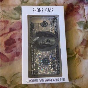 $100 Bill Glitter Phone Case